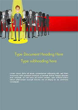 Choosing Worker Word Template, Cover Page, 15154, Careers/Industry — PoweredTemplate.com