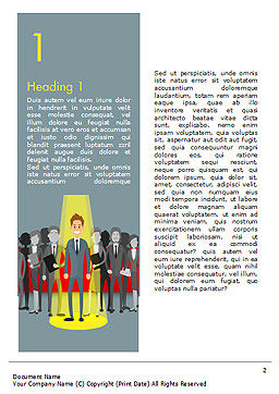Choosing Worker Word Template, First Inner Page, 15154, Careers/Industry — PoweredTemplate.com