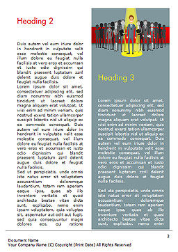 Choosing Worker Word Template, Second Inner Page, 15154, Careers/Industry — PoweredTemplate.com