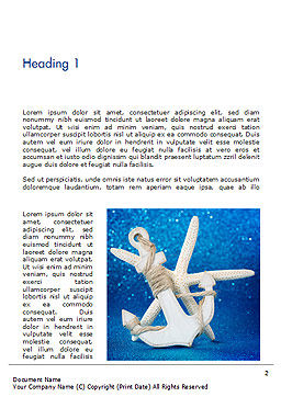 Anchor and Starfish Word Template, First Inner Page, 15155, Holiday/Special Occasion — PoweredTemplate.com