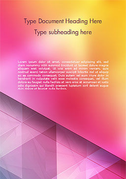 Color Gradient and Triangles Word Template, Cover Page, 15160, Abstract/Textures — PoweredTemplate.com