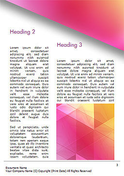 Color Gradient and Triangles Word Template, Second Inner Page, 15160, Abstract/Textures — PoweredTemplate.com