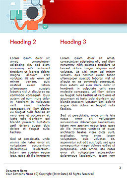 Information Search Illustration Word Template, Second Inner Page, 15161, Education & Training — PoweredTemplate.com