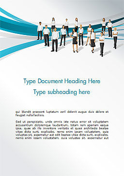 Various People Word Template, Cover Page, 15163, People — PoweredTemplate.com