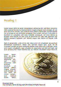 Bitcoin Coin Word Template, First Inner Page, 15164, Technology, Science & Computers — PoweredTemplate.com