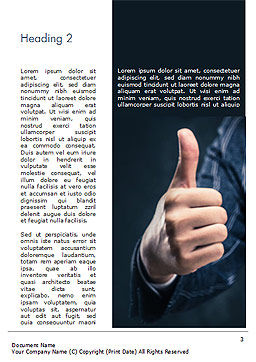 Man Shows Thumb Up Word Template, Second Inner Page, 15170, Business Concepts — PoweredTemplate.com