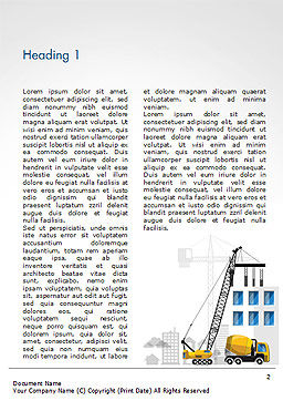 House Building Illustration Word Template, First Inner Page, 15171, Construction — PoweredTemplate.com
