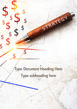 Inscription Strategy on Pencil Word Template, Cover Page, 15174, Business Concepts — PoweredTemplate.com