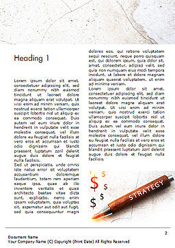 Inscription Strategy on Pencil Word Template, First Inner Page, 15174, Business Concepts — PoweredTemplate.com