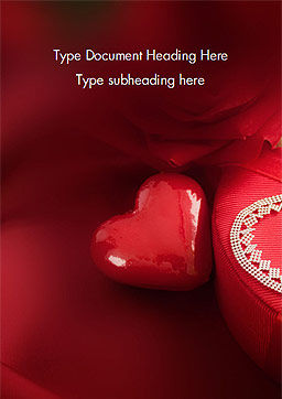 Marzipan Heart Word Template, Cover Page, 15176, Holiday/Special Occasion — PoweredTemplate.com