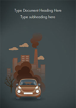 Automobile and Industrial Pollution Word Template, Cover Page, 15178, Nature & Environment — PoweredTemplate.com