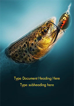 Pike Fishing Word Template, Cover Page, 15184, Sports — PoweredTemplate.com