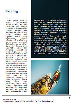 Pike Fishing Word Template, First Inner Page, 15184, Sports — PoweredTemplate.com