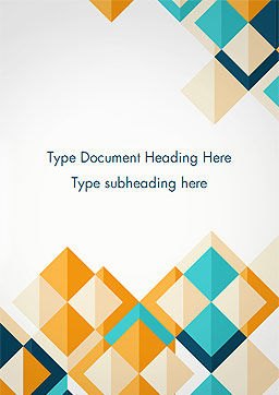 Triangle Pattern Design Background Word Template, Cover Page, 15187, Abstract/Textures — PoweredTemplate.com