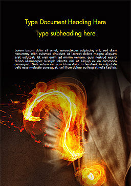 Flaming Question Mark Word Template, Cover Page, 15188, Business Concepts — PoweredTemplate.com