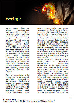 Flaming Question Mark Word Template, Second Inner Page, 15188, Business Concepts — PoweredTemplate.com