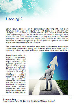 New Opportunity Concept Word Template, Second Inner Page, 15189, Business — PoweredTemplate.com