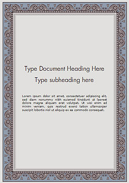 Classic Styled Frame Word Template, Cover Page, 15190, Abstract/Textures — PoweredTemplate.com