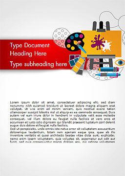 Creativity Word Template, Cover Page, 15193, Art & Entertainment — PoweredTemplate.com