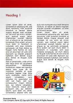 Creativity Word Template, First Inner Page, 15193, Art & Entertainment — PoweredTemplate.com