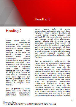 Red Stripe on Gray Background Word Template, Second Inner Page, 15200, Abstract/Textures — PoweredTemplate.com