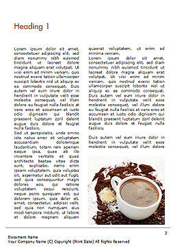 Coffee Cup and Coffee Beans Word Template, First Inner Page, 15204, Food & Beverage — PoweredTemplate.com