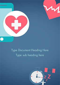 Health Applications Word Template, Cover Page, 15205, Medical — PoweredTemplate.com