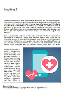 Health Applications Word Template, First Inner Page, 15205, Medical — PoweredTemplate.com