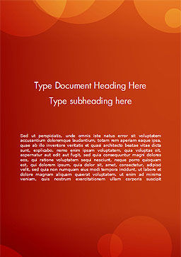 Orange Background with Transparent Circles Word Template, Cover Page, 15206, Abstract/Textures — PoweredTemplate.com