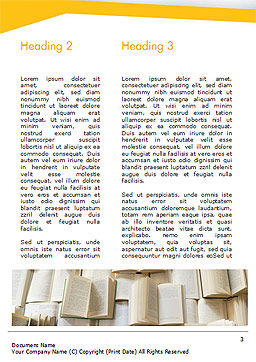 Open Books Piled up Word Template, Second Inner Page, 15209, Education & Training — PoweredTemplate.com