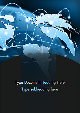 Global Network Connection Word Template, Cover Page, 15213, Technology, Science & Computers — PoweredTemplate.com