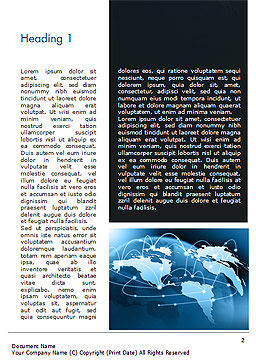 Global Network Connection Word Template, First Inner Page, 15213, Technology, Science & Computers — PoweredTemplate.com