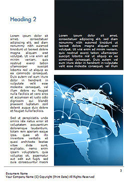 Global Network Connection Word Template, Second Inner Page, 15213, Technology, Science & Computers — PoweredTemplate.com