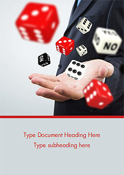 Gambling Concept Word Template, Cover Page, 15215, Business Concepts — PoweredTemplate.com