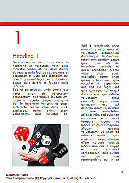 Gambling Concept Word Template, First Inner Page, 15215, Business Concepts — PoweredTemplate.com