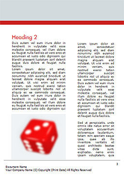 Gambling Concept Word Template, Second Inner Page, 15215, Business Concepts — PoweredTemplate.com