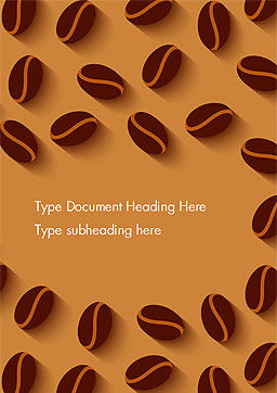 Coffee Beans Illustration Word Template, Cover Page, 15218, Food & Beverage — PoweredTemplate.com