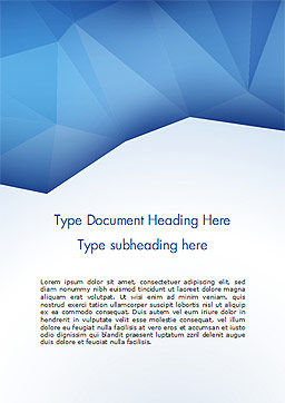 Triangular Polygon Style Word Template, Cover Page, 15219, Abstract/Textures — PoweredTemplate.com