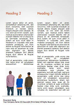 Rear View of Multi-Ethnic Group of People Word Template, Second Inner Page, 15221, People — PoweredTemplate.com