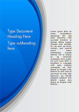Abstract Blue Semicircle Word Template, Cover Page, 15226, Abstract/Textures — PoweredTemplate.com