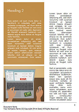 Online Shopping Illustration Word Template, Second Inner Page, 15227, Business Concepts — PoweredTemplate.com