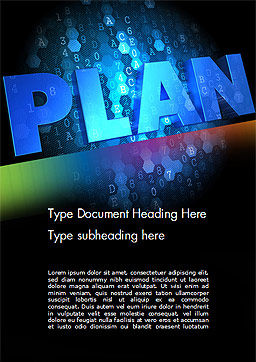 Blockchain Project Plan Word Template, Cover Page, 15228, Business Concepts — PoweredTemplate.com