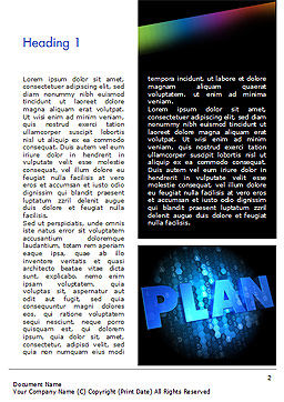 Blockchain Project Plan Word Template, First Inner Page, 15228, Business Concepts — PoweredTemplate.com