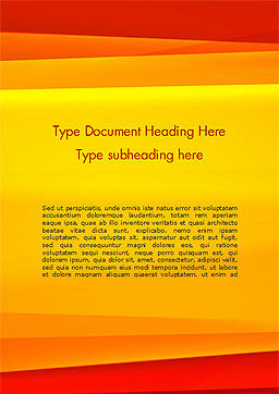 Bright Orange Background Word Template, Cover Page, 15229, Abstract/Textures — PoweredTemplate.com