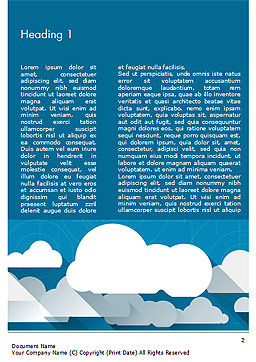 Paper Clouds Word Template, First Inner Page, 15230, Nature & Environment — PoweredTemplate.com