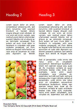Colorful Rainbow Food Word Template, Second Inner Page, 15235, Food & Beverage — PoweredTemplate.com
