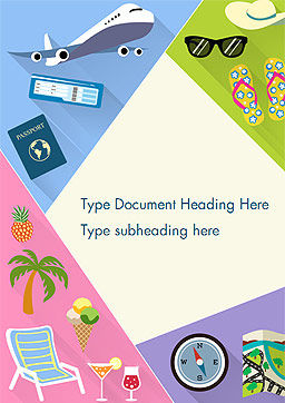Summer Vacations Word Template, Cover Page, 15236, Holiday/Special Occasion — PoweredTemplate.com