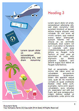 Summer Vacations Word Template, Second Inner Page, 15236, Holiday/Special Occasion — PoweredTemplate.com