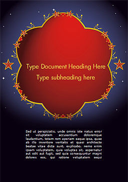 Magic Background Word Template, Cover Page, 15237, Abstract/Textures — PoweredTemplate.com