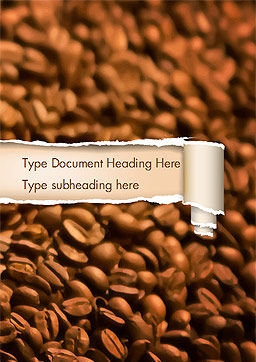 Blurry Coffee Beans Word Template, Cover Page, 15239, Food & Beverage — PoweredTemplate.com